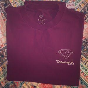 Diamond supply male t shirt